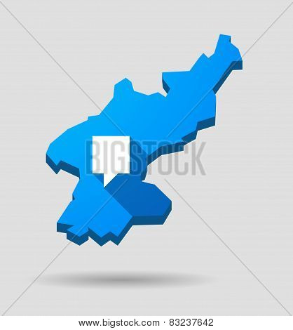 Blue North Korea Map With A Tooltip