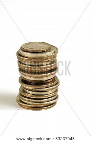 Stacked American Coins