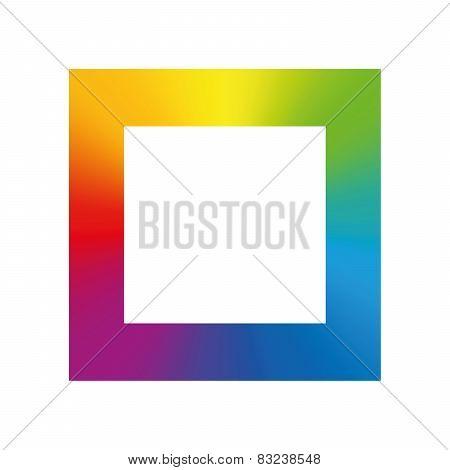 Square Rainbow Gradient Color