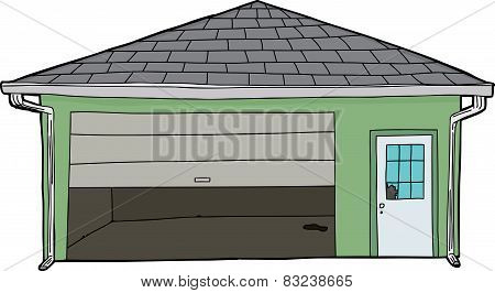 Damaged Isolated Garage