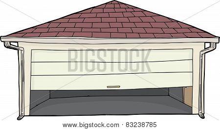 Isolated Stuck Garage Door