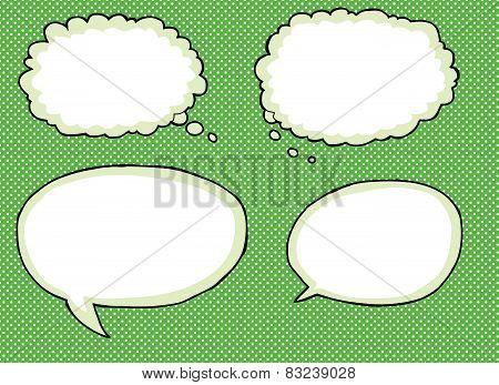Various Empty Dialog Bubbles