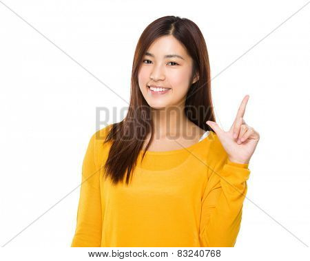 Woman with tick gesture