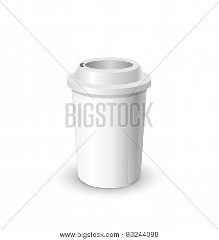coffee cup realistic mock up isolated