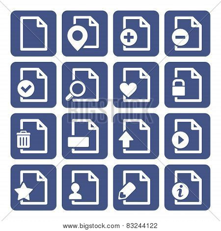 File Management Icons Set