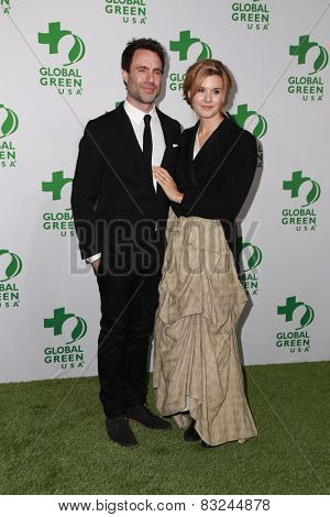 LOS ANGELES - FEB 18:  Matthew Cooke, Maggie Grace at the Global Green USA's 12th Annual Pre-Oscar Party at a Avalon on February 18, 2015 in Los Angeles, CA