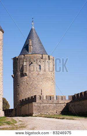 Tower Of The Medieval Town In Carcassonne