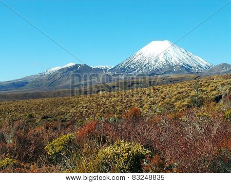 Mount Ngauruhoe and Mount Tongariro, New Zealand