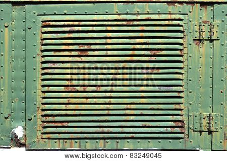 Grunge locomotive air exit grill