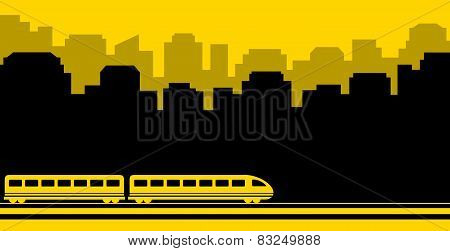 railway transport background