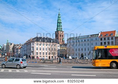 Denmark. Copenhagen. Transport in the center of the city