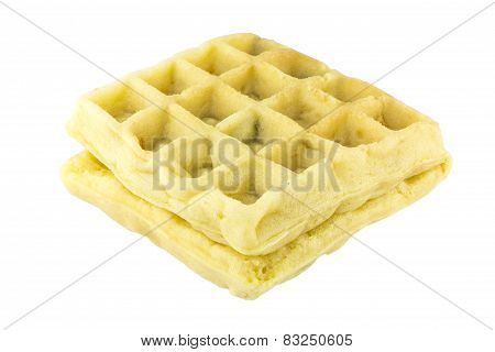 Waffle On White Background