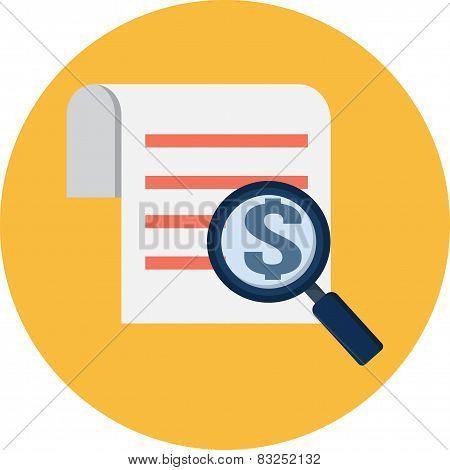 Magnifying Glass and Receipt