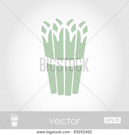 Vector Asparagus Icon