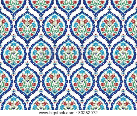 Background With Seamless Pattern Two Version