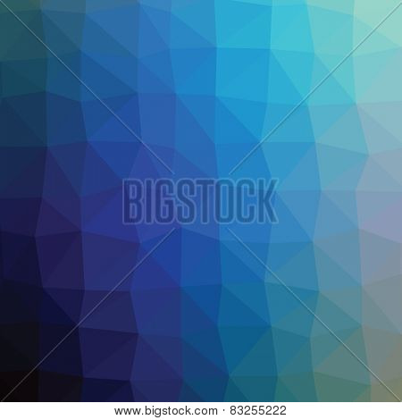 Geometric abstract navy light turquise low-poly paper background.