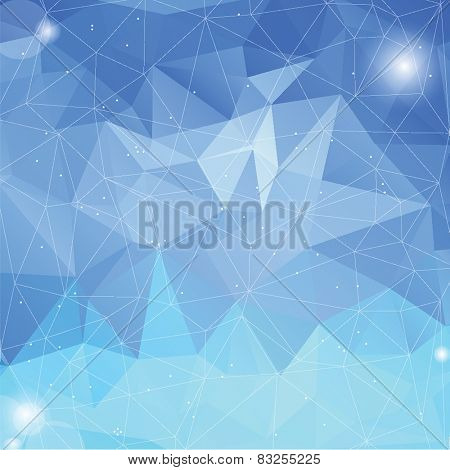 Geometric abstract iceberg low-poly paper background.