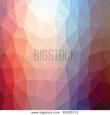 Geometric abstract flame low-poly paper background. Vector with transparency.