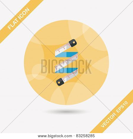 Measuring Tape Flat Icon With Long Shadow,eps10