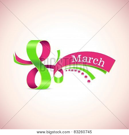 Vector Happy Womens Day. 8 March.
