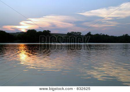 Sunset on the Lake - sun on the left