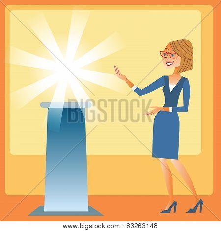 Businesswomen Presentation Of The New Brand