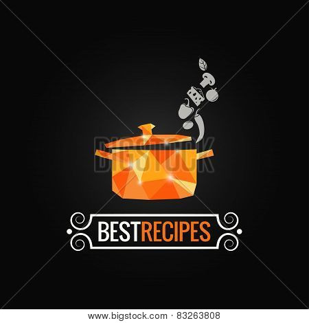 saucepan poly design background