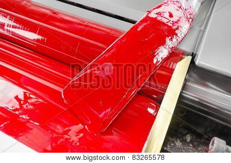 red magenda color ink, printing machine