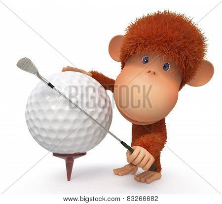 The Monkey Plays Golf