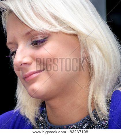 Smiling Blonde girl portrait