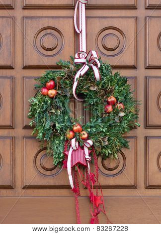 Christmassy door wreath