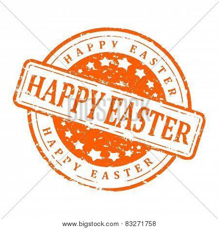 Damaged Stamp - Happy Easter