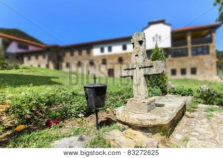 Old Church and Monastery complex grave