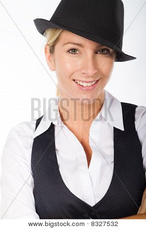 blond young businesswoman
