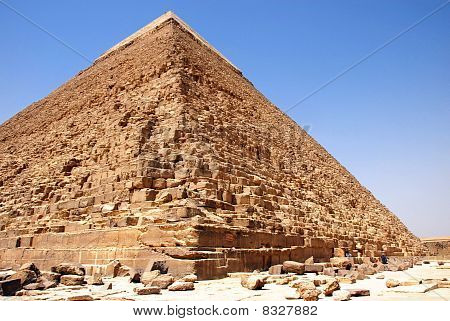 Kefren Pyramid On Giza, Cairo