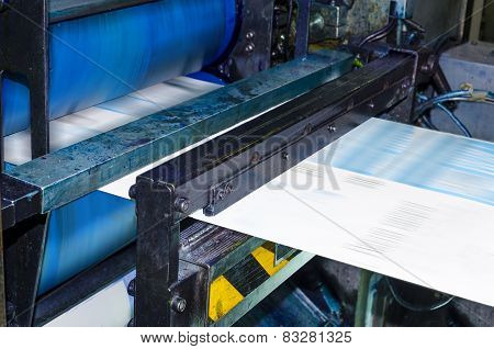 Printing machine in printhouse