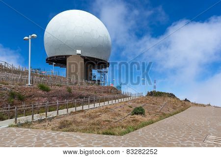 Radar Station At Top Of Pico Do Arieiro, Madeira Island