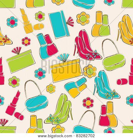 Colorful pattern for International Women's Day celebration.