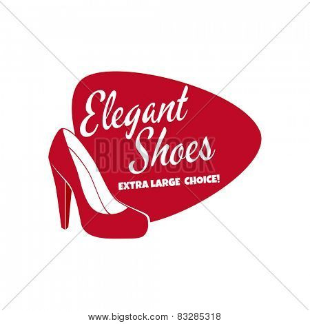 red elegant women's shoes sign