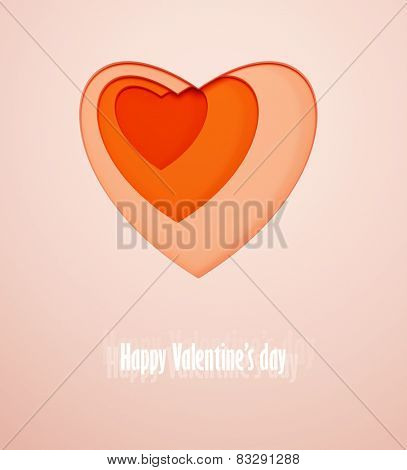 gift card for Valentine's day. 3d render