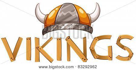 Illustration of a viking helmet