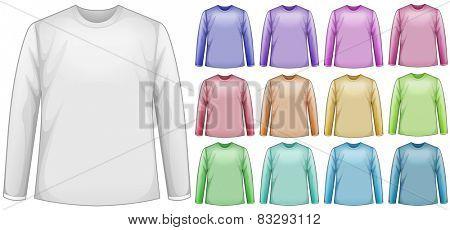 Illustration of a blank long sleeves shirt
