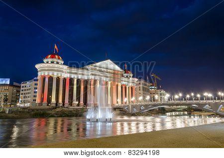Macedonian's capital city Skopje