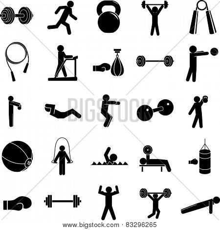 exercise symbols set