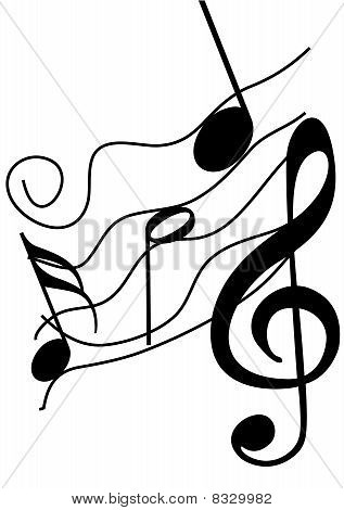 Abstract Illustration of a stave on white background