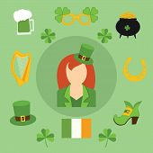 stock photo of irish flag  - Happy St - JPG