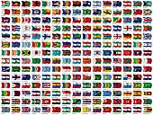 Picture of world flags set.