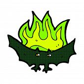 foto of vampire bat  - retro comic book style cartoon spooky vampire bat - JPG