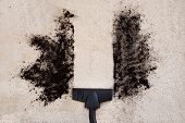 picture of angle  - High Angle View Of Vacuum Cleaner Cleaning Dirt On Carpet - JPG