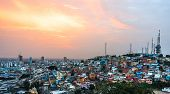 picture of guayaquil  - Panoramic photo of Guayaquil city at sunset Ecuador South America - JPG